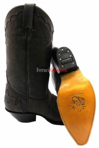 Grinders Arizona Brown Unisex Leather Boot Cowboy Western Slip On Pointed Boots