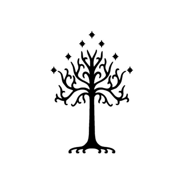 Lord of the Rings White Tree of Gondor  - Vinyl Decal - Multiple Colors