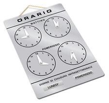 Cartello ORARIO regolabile apertura negozio/studio/laboratorio/officina/bottega