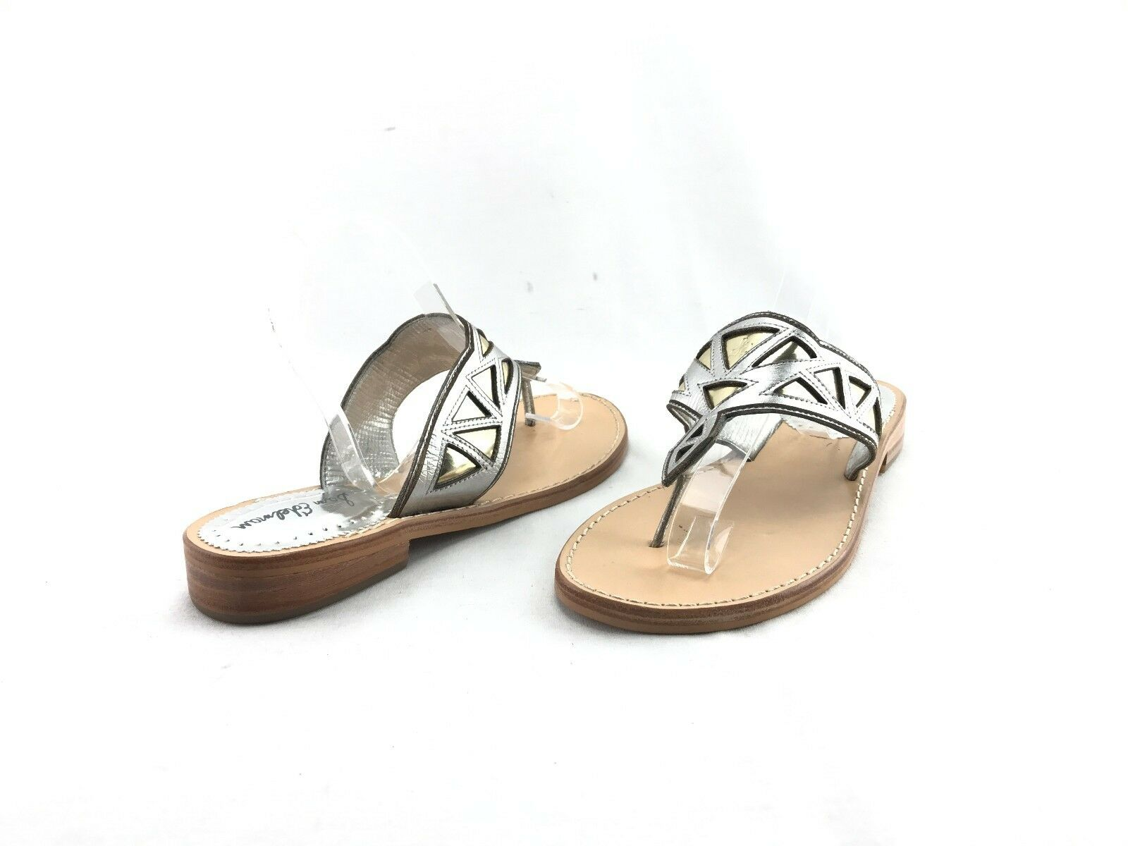 LUCKY BRAND 227558 beige / black fabric ankle strap wedge espadrilles sz. 9.5