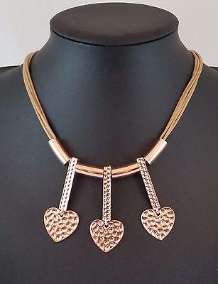 Modern Black Irregular Multi Rows Silver Abstract Hoops Lagenlook Necklace