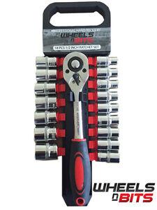 18-piezas-Unidad-de-1-3cmcm-Trinquete-amp-Enchufe-cierre-rapido-cromo-vanadio