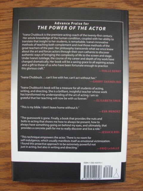 The Power Of The Actor The Chubbuck Technique By Ivana Chubbuck