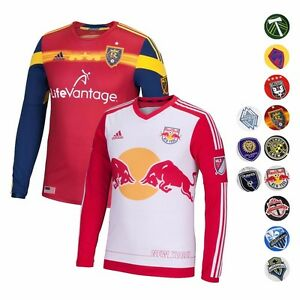 6549bf830 Major League Soccer MLS ADIDAS Long Sleeve Authentic On-field Jersey ...