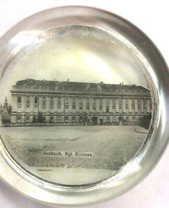 Vintage-1910-039-s-German-Austrian-paperweight-Ansbach-KGL-Shloss-Schloss