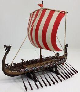 Image Is Loading Drekar Dragon Headed Museum Replica Viking Longship Red