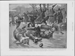 1901-Antique-Print-GERMANY-Hamburg-Ice-Obstacle-Race-Aussen-Alster-Skater-148