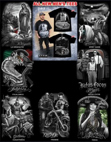 DGA David Gonzales Lowrider Chicano Art Ride Or Die Viva Mexico T Shirt