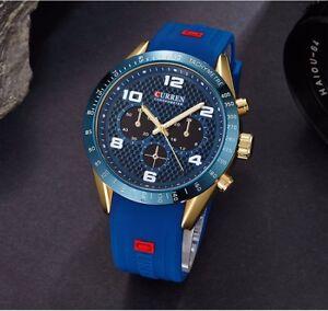 Curren-Luxury-Watch-Men-039-s-Sports-Military-Army-Fashion-Quartz-Analog-Wrist-Watch
