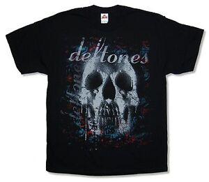 Deftones-Teschio-Nero-T-Shirt-NUOVO-OFFICIAL-Band-Merch