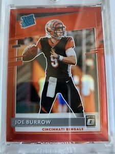 2020 Donruss Optic Preview Joe Burrow Rated Rookie #P-301 Red Prizm #/99 Bengals