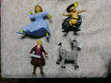 SHREK Series PUSS IN BOOTS Fiona Donkey ANIMAL Figure Charms Metal Keychain Ring