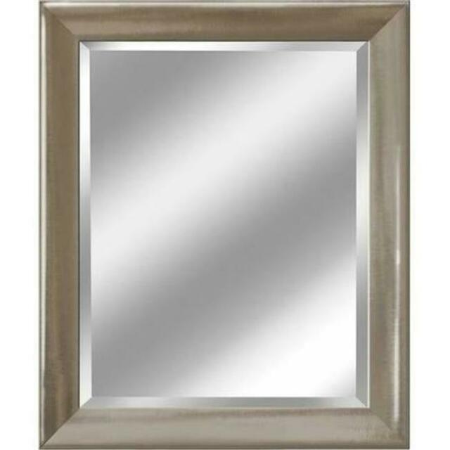 Head West 8045 27 x 33 in. Brush Nickel with Chrome Liner Mirror