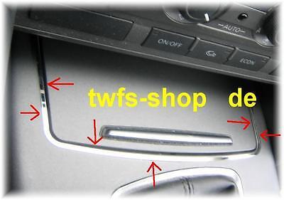 D Audi A6 C6 4F  Chrom  Rahmen für Ablage vorne  Edelstahl poliert