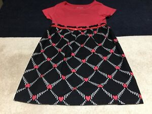 Dresses Clothing, Shoes & Accessories Girl's Healthtex Multi-color Pink Hearts Dress~size 5t Spring