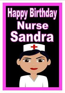 Nurse fun birthday card personalised for you any name image is loading nurse fun birthday card personalised for you any bookmarktalkfo Images