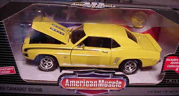 1969 Chevrolet Camaro SS396 Amarillo 1 18 Ertl American Muscle 32921
