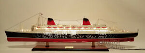 SS-France-With-Lights-French-Ocean-Liner-Wooden-Ship-Model-Scale-1-300