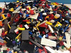 4-5-kg-LEGO-Mixtes-Job-Lot-Bundle-briques-star-wars-pirates-Tan-gris-noir-loose
