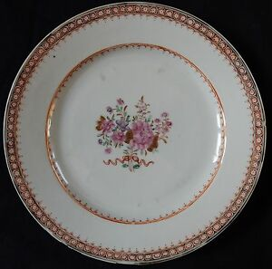 Assiette-ancienne-CHINE-Chinese-Porcelain-Compagnie-des-Indes-034-n-16-034