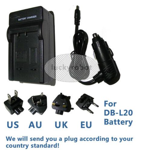 DB-L20 Batería o Cargador De Pared Sanyo VPC-CA65 VPC-CA8 VPC-CA9 VPC-CG6 VPC-CG65