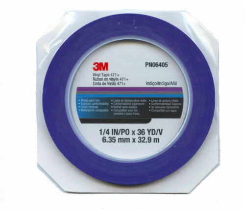 3M 471 BLUE FINE LINE MASKING TAPE 6mm x 33m PN06405 471+