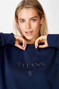 NRL Womens Old School Jumper L/Sleeve Tops  In  Titans