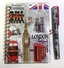 NOTEBOOK DIARY - LONDON SOUVENIRS NOTE PAD & PEN - BRITISH UJ UK FLAG 1
