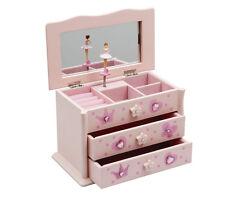 Girls Pink Ballet Dance Wooden Music Jewellery Box By Katz Dancewear JB-01
