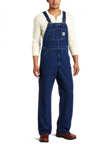 Carhartt Men/'s Washed-Denim Unlined Bib Overalls R07