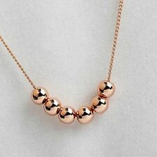 New Stylish Beautiful Moving Golden Acrylic Beads Chain Necklace For Girls.