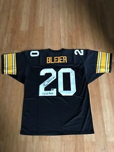 Details about Steelers Rocky Bleier Signed Jersey 4x Super Bowl Champs Comes with AAA COA