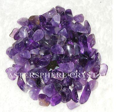 400 x Amethyst Tumblestones Mini Chip 7mm-9mm A Grade Crystal Bulk Wholesale