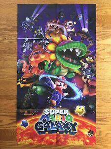 Official HUGE Super Mario Galaxy / Hyrule Warriors Poster Authentic Zelda Wii
