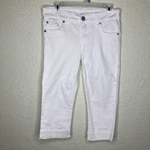 Women's KUT from the Kloth White Jean Capris Size