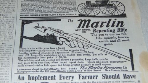 1912 MARLIN MODEL 29 RIFLE AND GOOD YEAR TIRES AND OTHER ADVERTISING