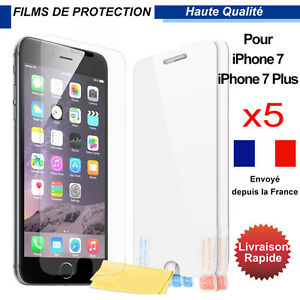 Film-protection-d-039-ecran-en-plastique-x-5-pcs-Iphone-7-iPhone-7-plus
