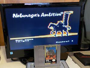100-WORKING-NINTENDO-NES-RARE-Game-Cartridge-Manual-NOBUNAGA-S-AMBITION