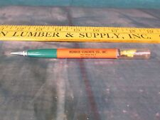 Concrete mixer Monroe LA. Orange top end mechanical Pencil advertising