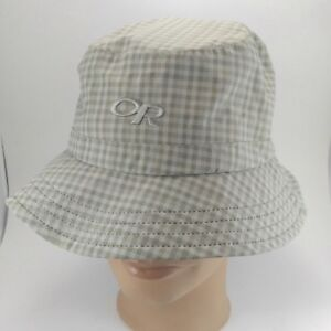 520a5eb3d5868 Image is loading Outdoor-Research-Lightstorm-Bucket-Hat -Sandstone-Plaid-Medium