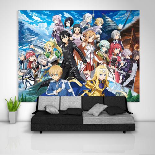 Sword Art Online Alicization Wandteppich Kunst Wandbehang Bettdecke Wohnkultur