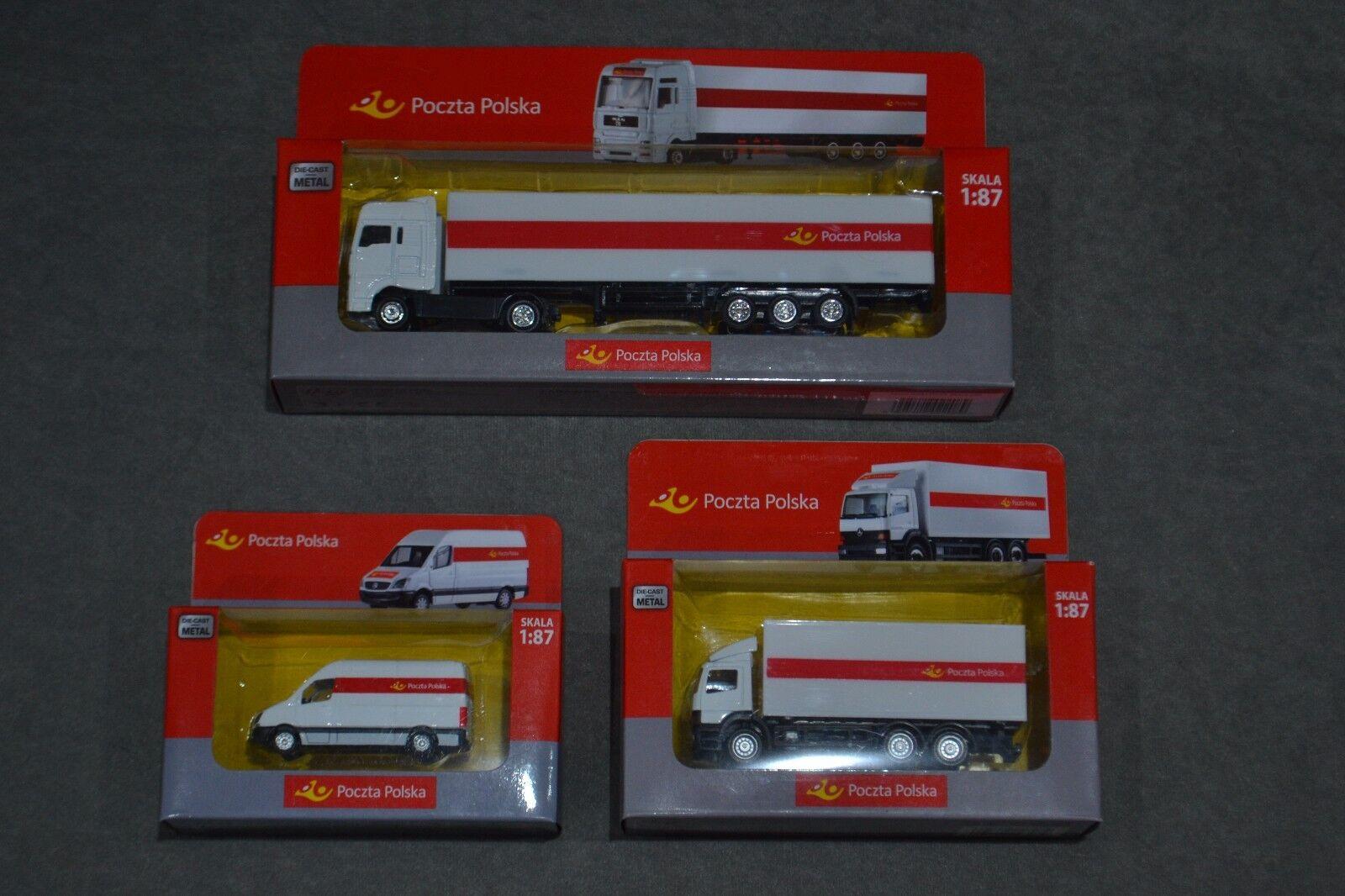 On Camion mercedes atego & Sprinter Poland Post Office Poczta POLSKA 1 87 Set 3x