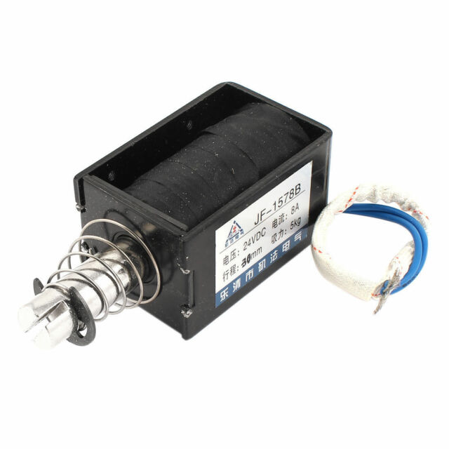24VDC Electromagnet Solenoid Actuator 0.8N Hold Force Open Frame Push Type 10mm