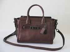 New Coach Swagger 27 Bronze Leather Satchel Shoulder Handbag 34816