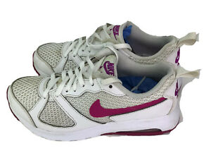 Nike-Air-Max-Womens-Size-8-Pink-White-Athletic-Fashion-Shoes-Sneakers