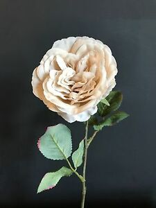 Individual cream artificial cabbage rose realistic off white faux image is loading individual cream artificial cabbage rose realistic off white mightylinksfo