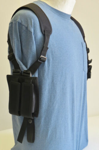 Shoulder Holster for SIG SAUER SP2022 with Underbarre Laser Double Mag Pouch