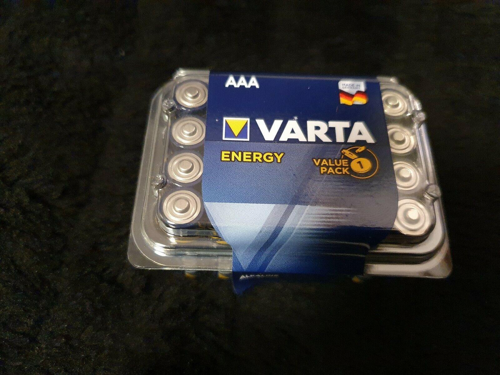 24 X Varta Energy Mignon AAA LR 03 NEW up to 12/2024 1,5V