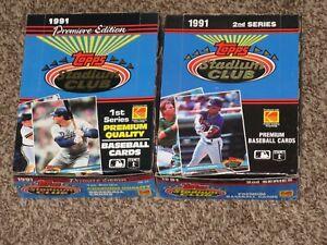 1991 Topps Stadium Club Baseball Wax Box Series 1 2 MLB I II 72 Total Packs LOT