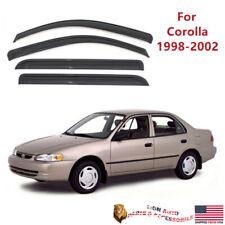 Fit For Toyota Corolla 1998 2002 Acrylic Slim Style Smoke Window Visors Fits 2002 Toyota Corolla